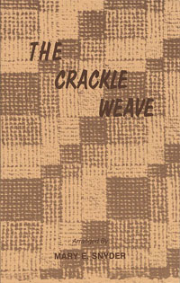 The Crackle Weave | Weaving Books