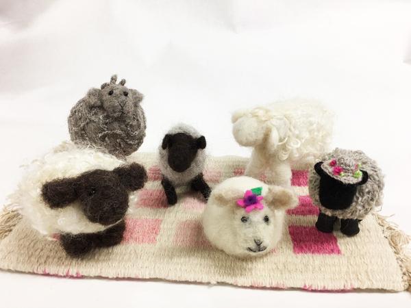 Needle Felting SHEEP! | Feltmaking