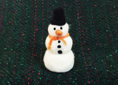 Let's Build a Needle Felted Snowman! | December 2017