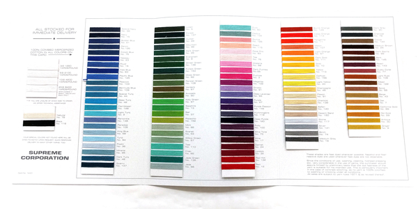 Supreme UKI Mercerized Cotton Color Card | Color Cards