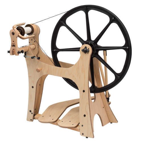 Schacht Flatiron Spinning Wheel | Saxony Spinning Wheels