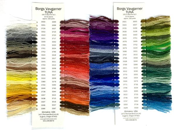 Borgs Tuna Wool Color Card | Color Cards