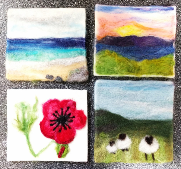 Needle Felting, Painting With Wool | Feltmaking