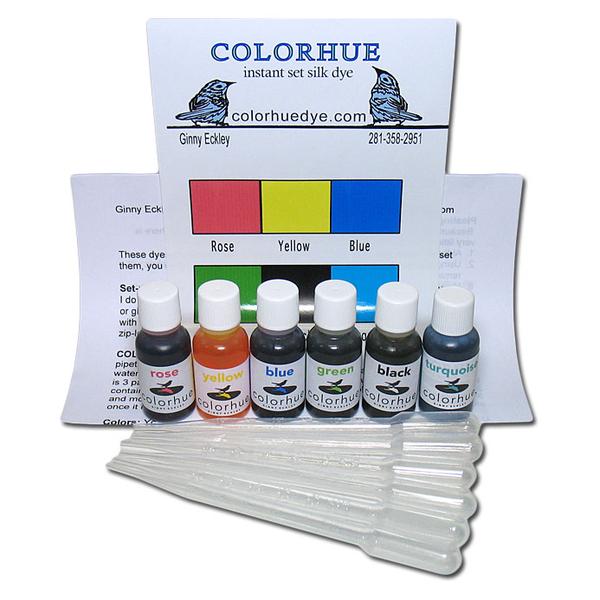 Colorhue Silk Dyes - 6 Color Set | Colorhue