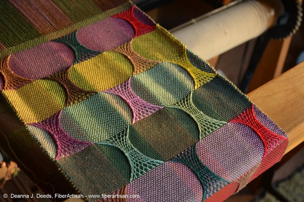 The Unwoven Warp: Layering Sprang on Woven Cloth with Deanna Deeds | July 2018