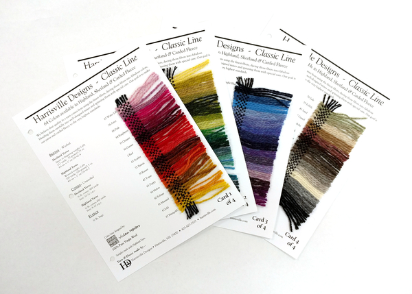 Harrisville Wool Color Cards | Color Cards