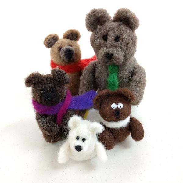 Needlefelting Bears | Feltmaking