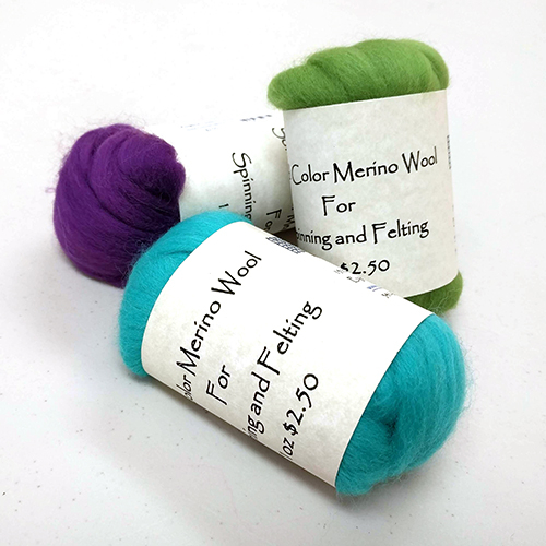 Solid Colored Merino Top - 1 oz | Dyed Wool Fiber