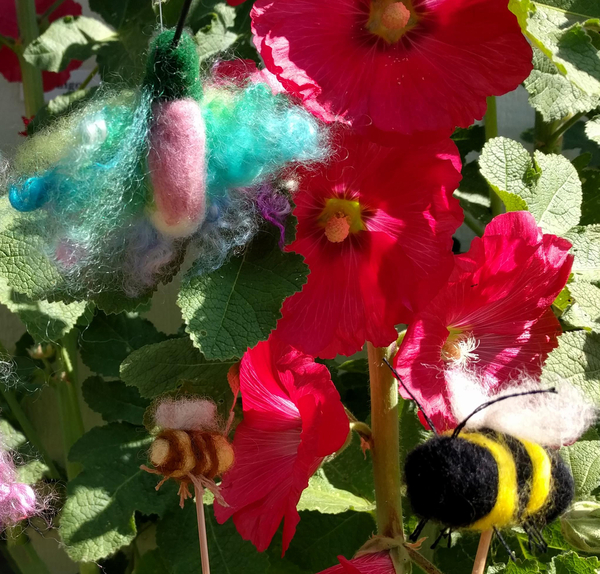Needle Felting the Birds and the Bees | Feltmaking