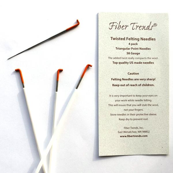 Fiber Trends Felting Needles, Twisted (38 gauge)   Felting Needles