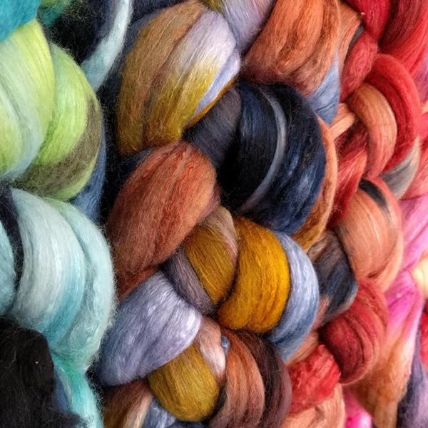 ETC Dyed Merino/Silk 70/30   Dyed Wool Fiber