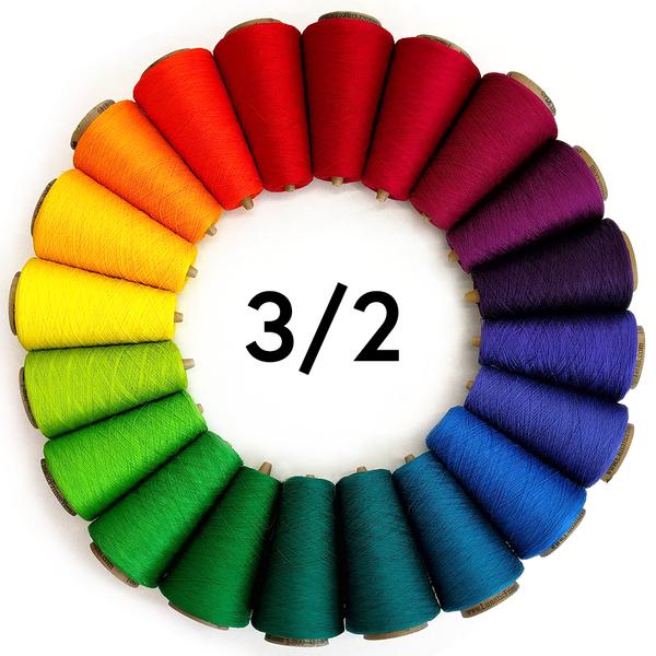 3/2 Tubular Spectrum 8oz Mercerized Cotton | Cotton Yarns, Mercerized