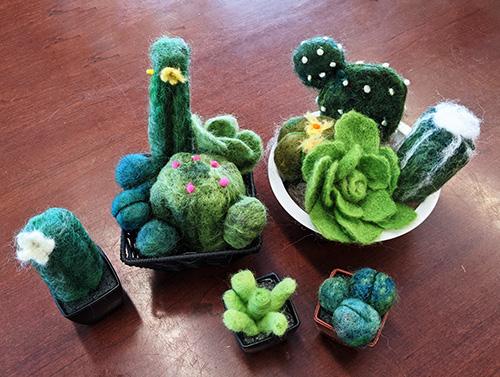 Needle Felt Cactus | Feltmaking