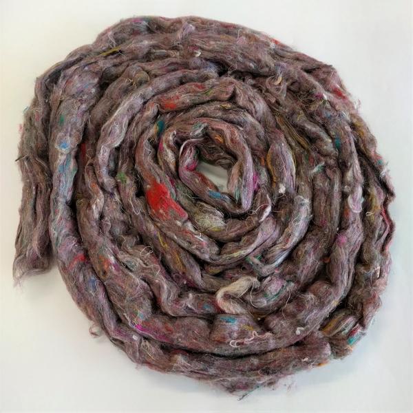 Pulled Sari Silk Fiber 1 oz | Fiber Mix-Ins