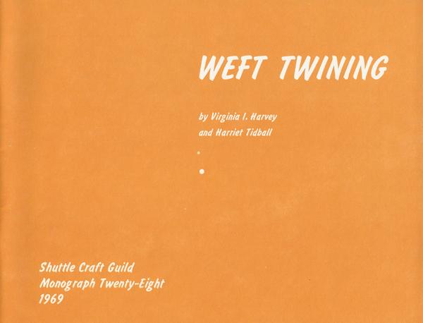 Weft Twining   Monographs