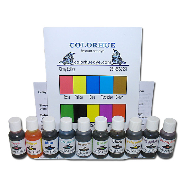 Colorhue Silk Dyes - 10 Color Set | Colorhue