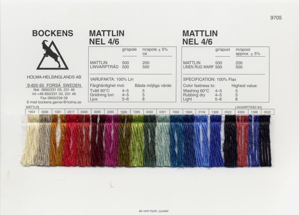 Bockens Mattlin 4/6 | Warp Linen