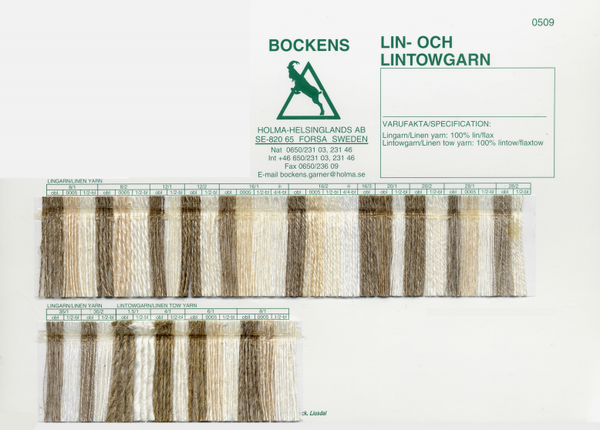 Bockens Tow Linen Miscellaneous Sizes | Swedish Yarns