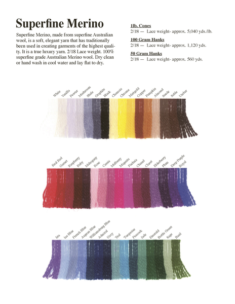 JaggerSpun: Superfine Merino 2/18   JaggerSpun Wool
