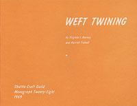 Weft Twining | Weaving Books