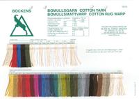 Image Bockens Cotton Yarn & Rug Warp Color Card