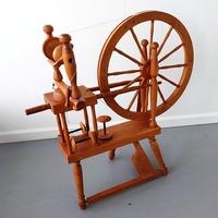 Image Norwegian Style Spinning Wheel