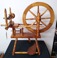 Image Beautiful Double Table Spinning Wheel