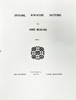 Image Original Miniature Patterns for Hand Weaving, parts 1 & 2 (used)