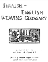 Image Finnish-English Weaving Glossary (used)